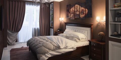 спальня в шоколадных тонах обзор