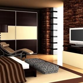 спальня в шоколадных тонах виды дизайна