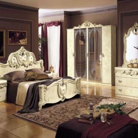 спальня в шоколадных тонах виды декора