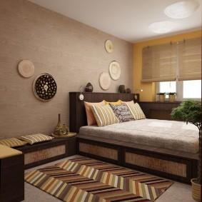спальня в шоколадных тонах виды оформления
