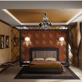 спальня в шоколадных тонах фото дизайна