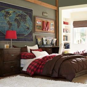 спальня в шоколадных тонах дизайн идеи