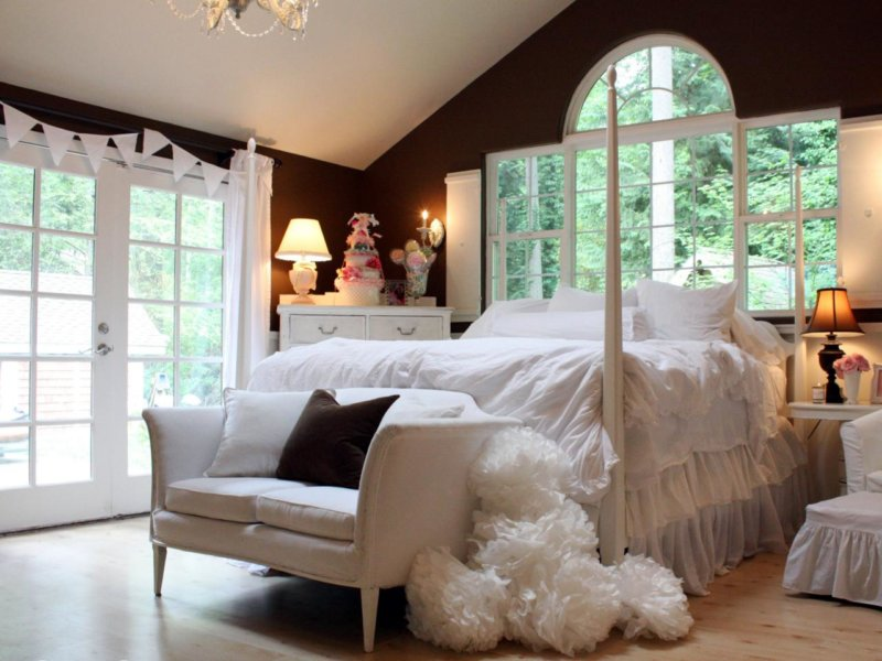 спальня в шоколадных тонах дизайн фото