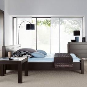спальня в шоколадных тонах фото интерьер