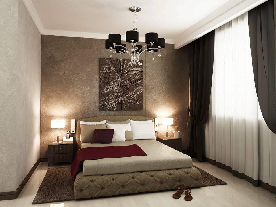 спальня в шоколадных тонах фото интерьера