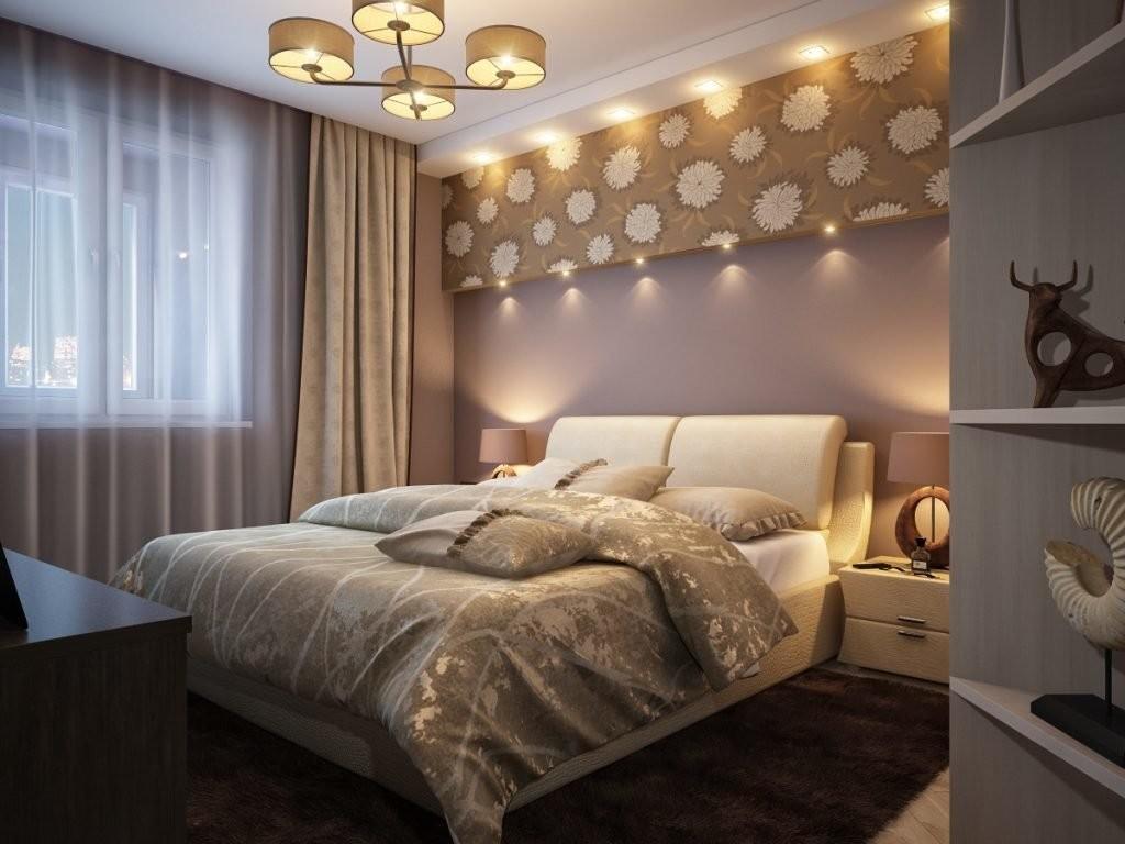 Интерьер спальни супругов в современной квартире