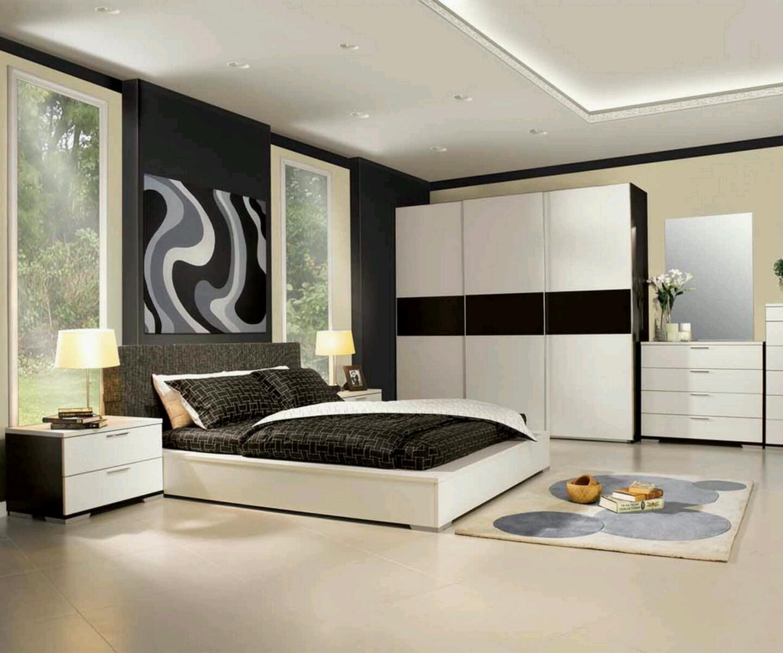 спальный гарнитур черно белый
