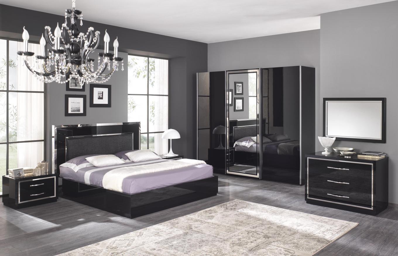 спальный гарнитур черный фото