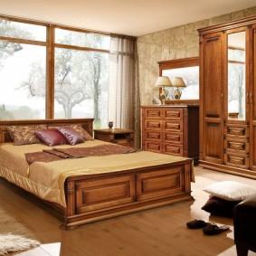 спальный гарнитур массив дерева