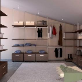 стеллажи для гардеробной комнаты идеи дизайн