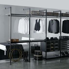 стеллажи для гардеробной комнаты идеи декор