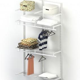 стеллажи для гардеробной комнаты интерьер идеи