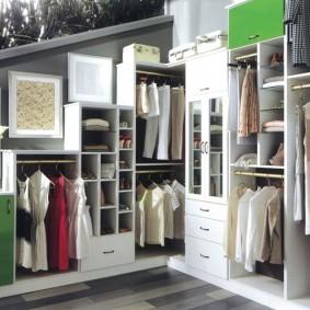 стеллажи для гардеробной комнаты идеи оформление