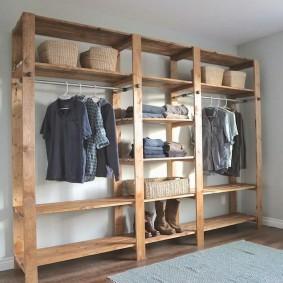 стеллажи для гардеробной комнаты варианты