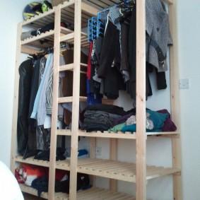 стеллажи для гардеробной комнаты варианты фото