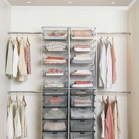 стеллажи для гардеробной комнаты фото вариантов