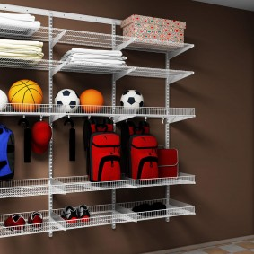 стеллажи для гардеробной комнаты идеи фото