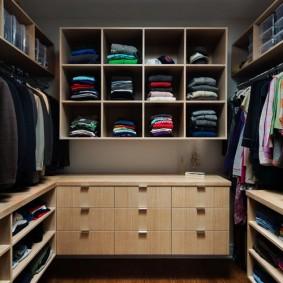 стеллажи для гардеробной комнаты фото виды