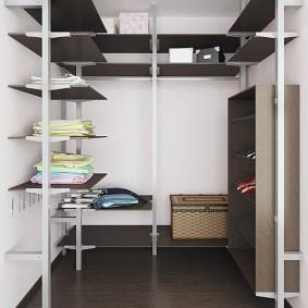 стеллажи для гардеробной комнаты фото видов