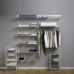 стеллажи для гардеробной комнаты виды идеи