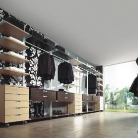 стеллажи для гардеробной комнаты фото идеи