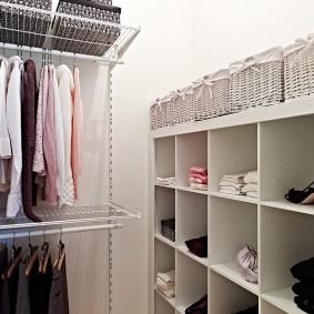 стеллажи для гардеробной комнаты фото дизайн