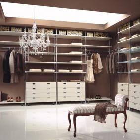 стеллажи для гардеробной комнаты фото дизайна