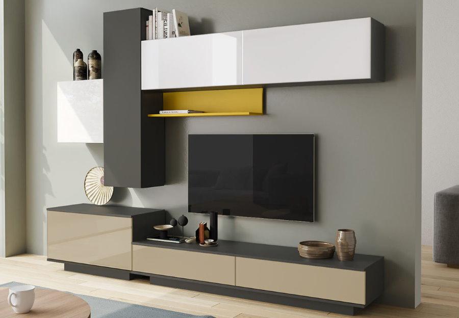 Разноцветные модули стенки-горки в современном стиле