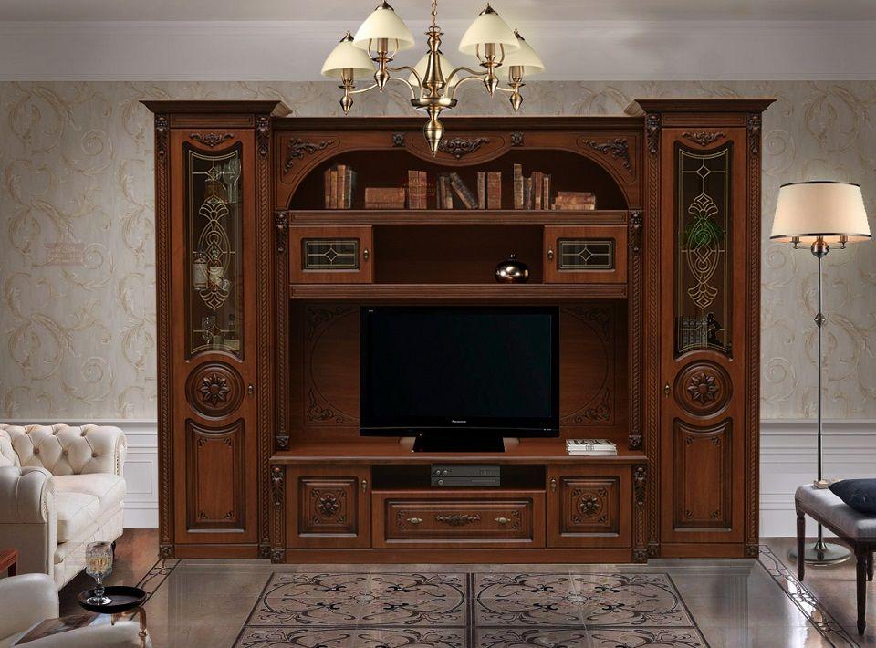 Мебельная стенка из МДФ для классического зала