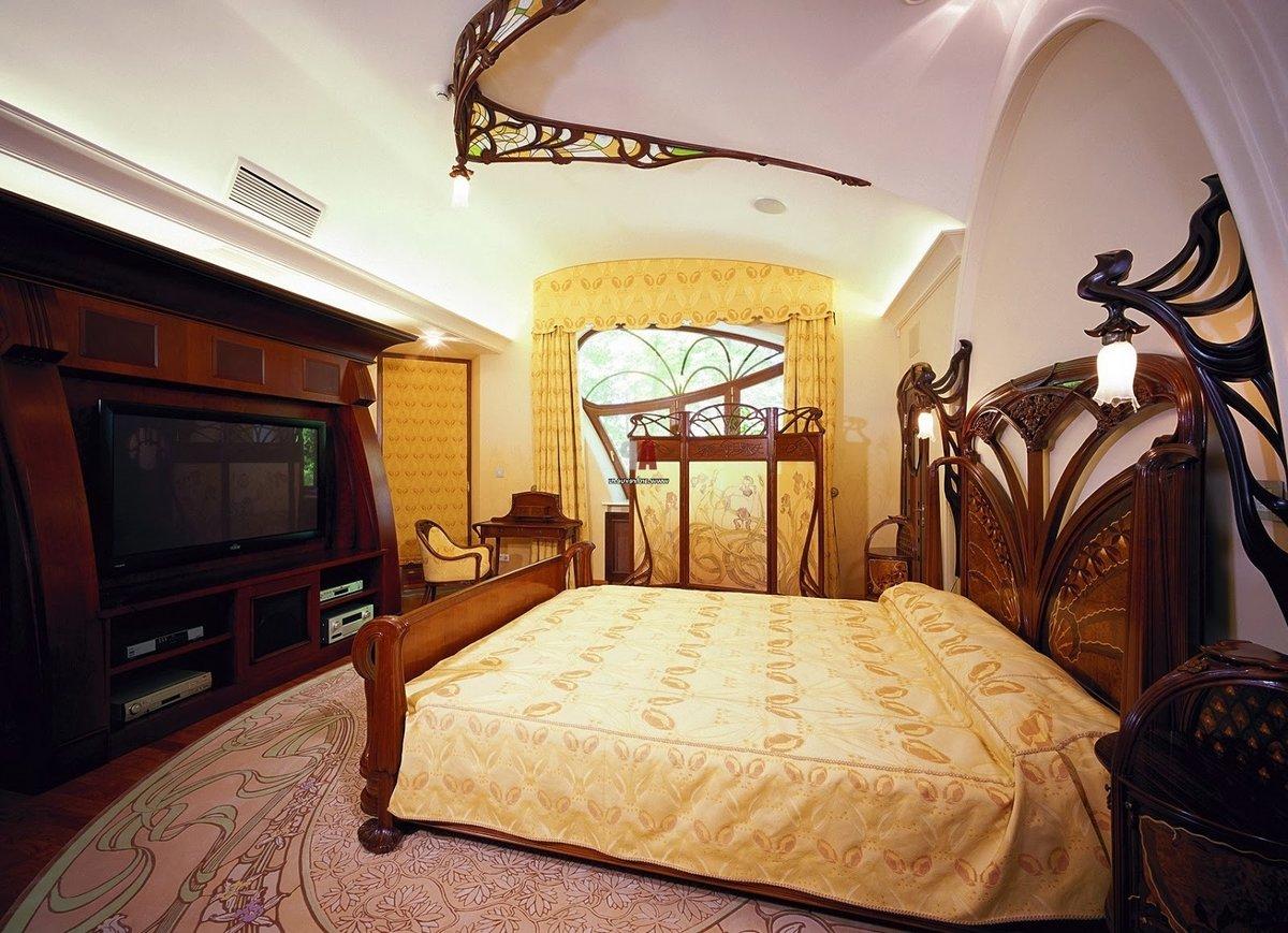 стиль модерн в интерьере спальни