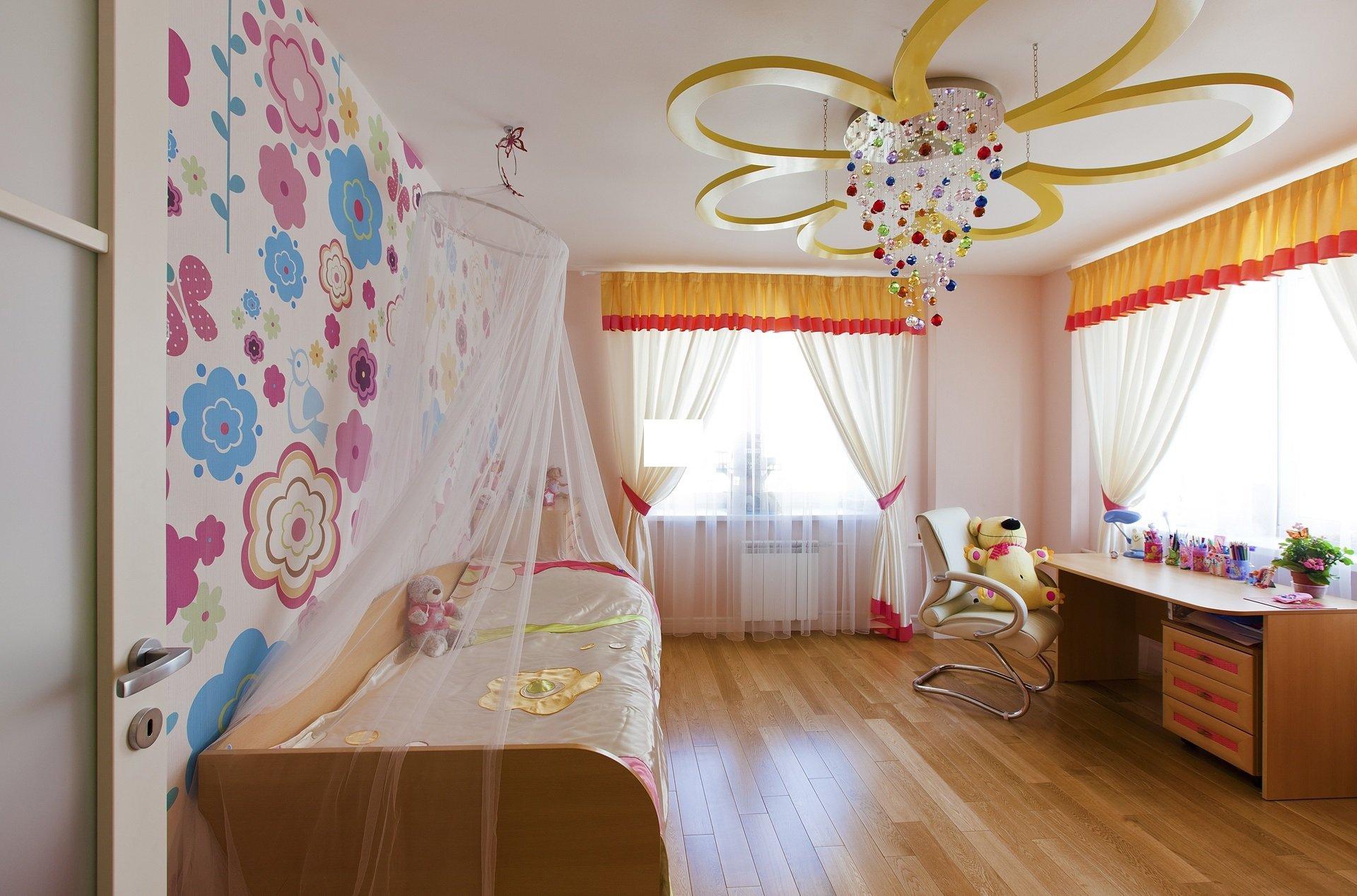 светильники в детской комнате