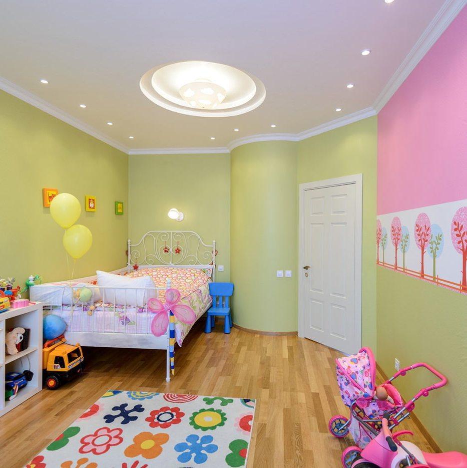 точечные светильники в детской