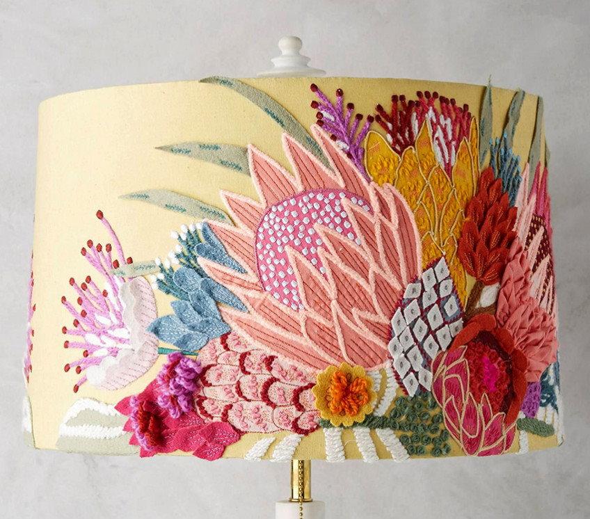Декор светильника своими руками для интерьера спальни