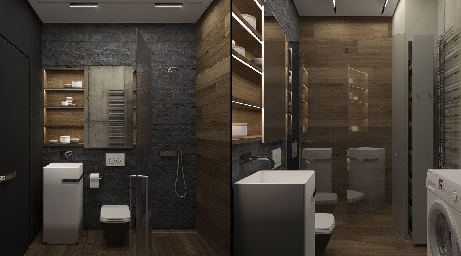 туалет в квартире студии