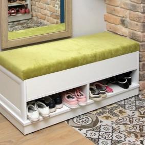 тумба для обуви с сиденьем идеи дизайн