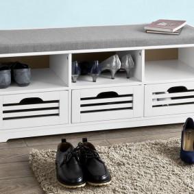 тумба для обуви с сиденьем идеи дизайна