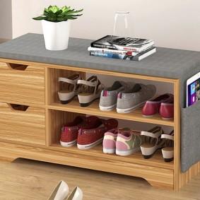 тумба для обуви с сиденьем фото интерьер