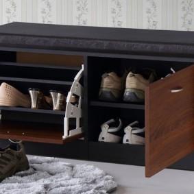 тумба для обуви с сиденьем идеи вариантов