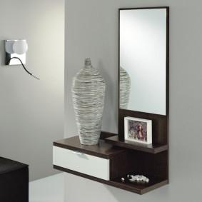 тумба с зеркалом в прихожей идеи дизайна