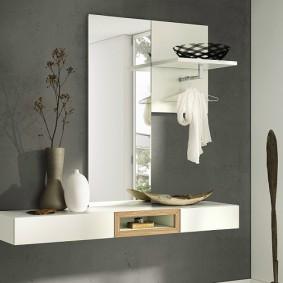 тумба с зеркалом в прихожей фото декора