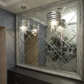 тумба с зеркалом в прихожей идеи декор