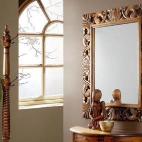 тумба с зеркалом в прихожей идеи декора