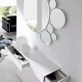 тумба с зеркалом в прихожей фото дизайн