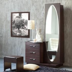 тумба с зеркалом в прихожей дизайн