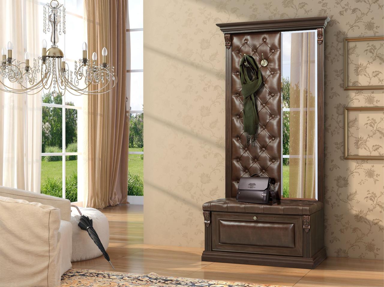 тумба с зеркалом в прихожей классика