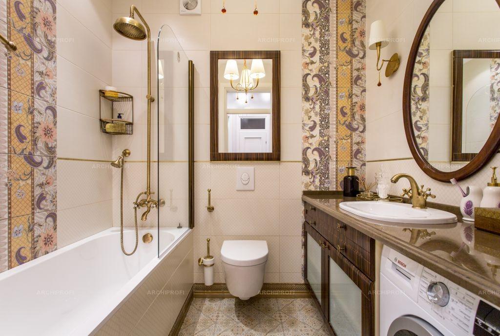 Уютная ванная комната совмещенного типа