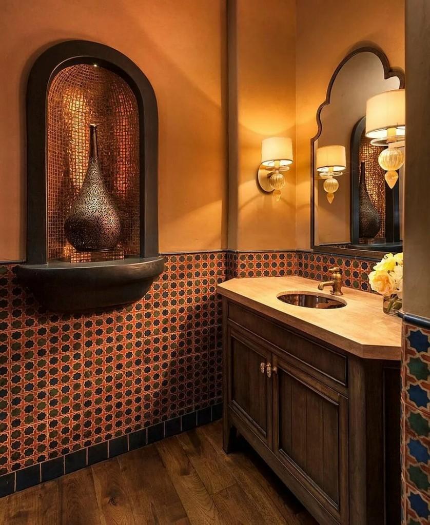 Декор ванной комнаты в марокканском стиле