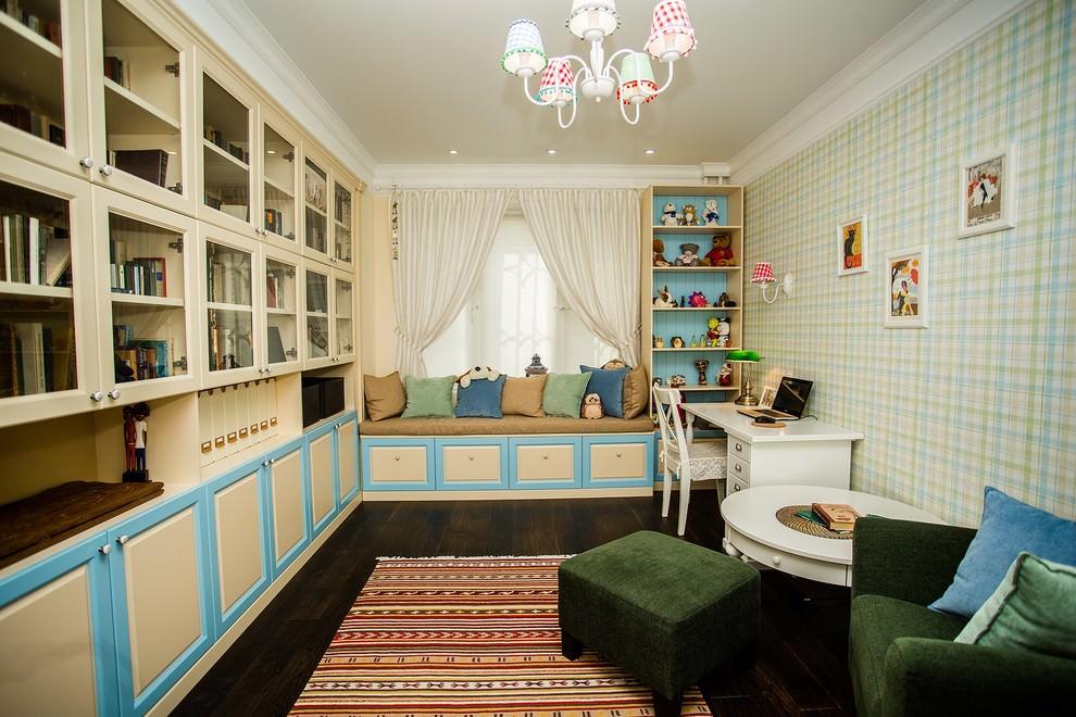 Встроенные шкафы в комнате школьника