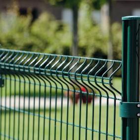забор из сетки на даче дизайн идеи