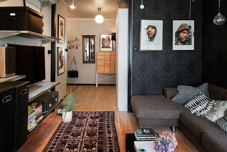 Оформление интерьера зала в двухкомнатной квартире 44 кв м